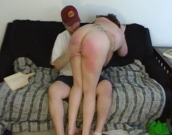 chubby girl getting spanked